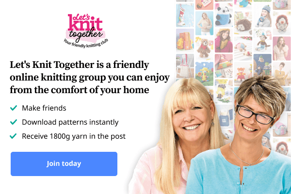 Let's Knit Together is a friendly online knitting group you can enjoy from the comfort of your home