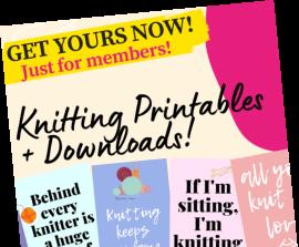 Knitting Printables + Downloads